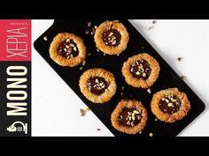 Σιροπιαστές φωλιές με σοκολάτα | Kitchen Lab by Akis Petretzikis - YouTube Yams, Pepperoni, Pineapple, Muffin, Sweets, Candy, Vegan, Fruit, Breakfast