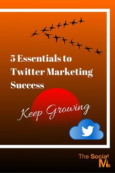 5 Essentials to Twitter Marketing Success – Keep Growing…