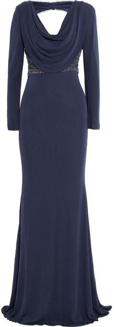 Badgley Mischka Beaded jersey-crepe gown...glamorous!