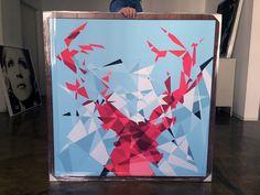 MY DEER pink Art Series, Evolution, Deer, Pink, Painting, Painting Art, Paintings, Paint, Draw