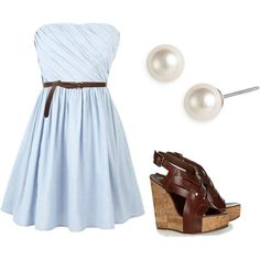 """Baby blue."" by christinamarie0824 on Polyvore"