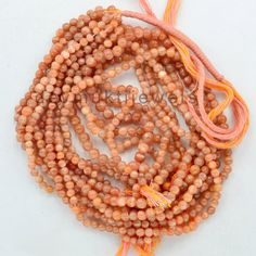 Moonstone Beads  Natural Peach Moonstone Beads by DevmuktiJewels
