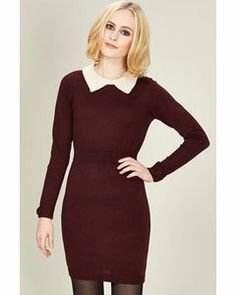 Sugarhill Boutique Ellie Knit Dress Burgundy