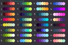 Chose one and i'll make u something random with the colors! :3