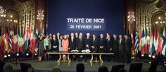 Signed: 26 February 2001  Entered into force: 1 February 2003  Purpose: to reform the institutions so that the EU could function efficiently after reaching 25 member countries.  Main changes: methods for changing the composition of the Commission and redefining the voting system in the Council.