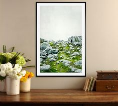 Stone Path Framed Print by Lupen Grainne #potterybarn