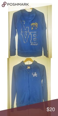 University of Kentucky Wildcats zip up jacket This jacket is light-weight. It has pockets & a hood. In good condition. Soffe Jackets & Coats