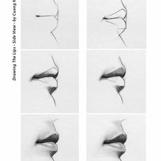 Drawing lips in profile. #art #drawing #lipsdrawing #profile #graphite…