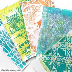 More Gelli prints from recent play with stencils by @tstegmiller @jamiefingal…