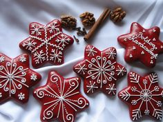 Christmas Cookies, Christmas Ornaments, Cookie Decorating, Decorating Ideas, Sweets Cake, Gingerbread, Biscuits, Valentines, Decorated Cookies