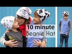 Sew a Beanie Hat - Slouchy Hat Tutorial -any size baby child teen adult - pattern tutorial for jersey , knit fabric - Melly Sews