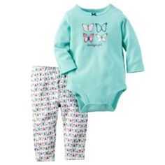 Carter's Baby Girls' Bodysuit Pant Sets Mint Butterfly, 9 Months: bsps girl mint with butterly print Carters Baby Clothes, Carters Baby Girl, Daddys Girl, Baby Kids Clothes, My Baby Girl, Toddler Girl, Baby Girls, Reborn Toddler, Kids Outfits Girls