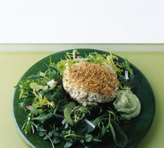 Crab Cakes with Spicy Avocado Sauce from Epicurious.com #myplate #protein