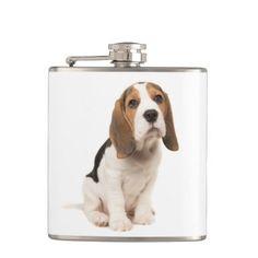 #Love Beagle Puppy Dog Sky Blue Flask - #beagle #puppy #beagles #dog #dogs #pet #pets