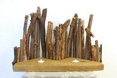 Großes Deko-Objekt aus Treibhölzern Teelichthalter von SchlueterKunstundDesign - Wohnzubehör, Unikate, Treibholzobjekte, Modeschmuck aus Treibholz auf DaWanda.com