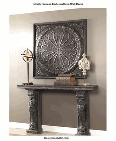 Mediterranean Embossed Iron Wall Decor 44""