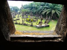 Budda park in laos vientiane