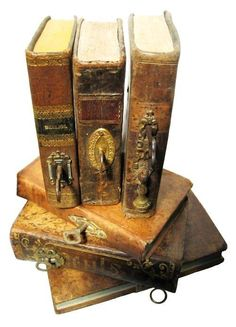 Ancient books, with keys