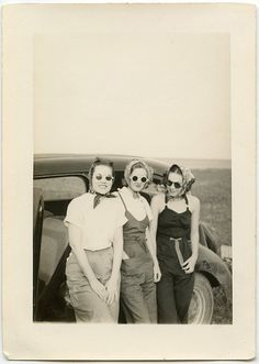 sassy: adjective \ˈsa-sē\ impudent, lively, spirited, vigorous, distinctively smart and stylish, showing no respect for people in authority, saucy, pert, confident, chic.  Unknown sassy ladies circa 1940s