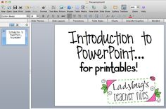 Ladybug's Teacher Files: Tutorial: Introduction to PowerPoint for making Printables... Love that Ladybug, Kristen!