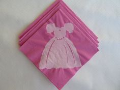 Pink Princess Dress  Paper Cocktail Napkins by TheFortunateHome, $6.50
