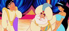 Aladdin, Jasmine and Sultan