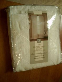 """BL Home Abbey Two Rod Pocket Panels 104"""" x 84""""  alone or underneath sheer draper #BLHome"""