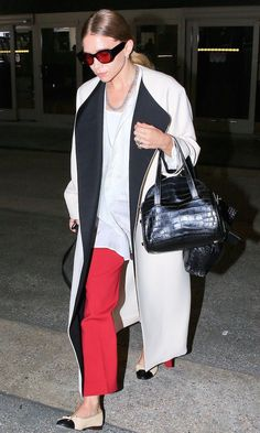 Airport Style: Get Ashley Olsen's Colorblock Look