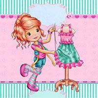 Cute Dressmaker The Paper Shelter, digital stamps, scrapbooking, crafts, dodles, cliparts, images resources, craft supplies & Digital Papers for all your needs.