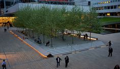 On assignment yesterday in New York City, a twelve-hour day, but a break in the action afforded a balcony view of the Met from Avery Fisher's balcony: The plazas in Lincoln Center have been r…