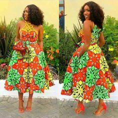 Ghana Dresses, Short African Dresses, Kitenge, Mid Length Dresses, Africa Fashion, Dress Styles, Ankara Styles, Smoothies, Fashion Dresses