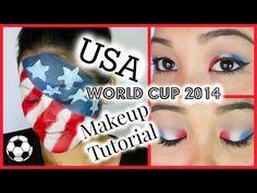 USA World Cup 2014 Makeup Tutorial Usa World Cup, World Cup 2014, Cristiano Ronaldo Lionel Messi, Neymar, Barcelona Soccer, Fc Barcelona, Alex Morgan Soccer, Soccer Girl Problems, Manchester United Soccer