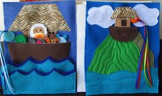 Noahs Ark and the Flood Quiet Book Page