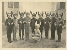 Vintage Photo of Boys Dressed in Bunny Costumes