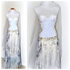 Bohemian Wedding Dress Corset MADE TO ORDER Bridal by EventOutlet
