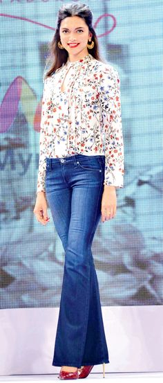 Deepika Padukone launches 'All About You' on Myntra. #Bollywood #Fashion #Style #Beauty #Hot #Denim