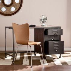 Southern Enterprises Radcliff Espresso and Gray Wood/Metal File Desk - Goedekers.com