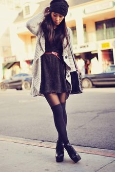 knee high socks outfit - Google Search