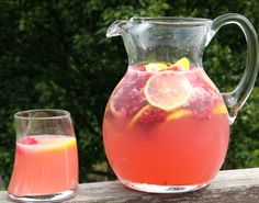Pink Homemade Lemonade Mixed Drink
