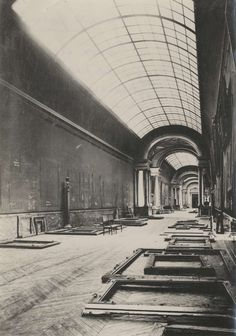 The Louvre, abandoned during the Nazi occupation of Paris