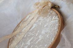 rustic ring ring bearer wedding decor / lace by cornerofthegarden, $22.00