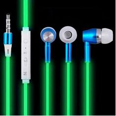 2017 New Glow In The Dark Earphones with mic  #gadgets #gadget #easy #amazing #womens #nerdy #begginer #unique #mens #techy