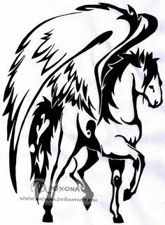 tribal horse tattoos