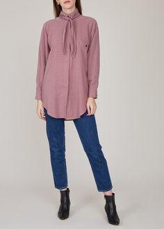 Larkin Really shirt - pink plaid on Garmentory