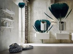 Motif panoramic wallpaper PLUMA DE PAVO Inkiostro Bianco Collection by Inkiostro…