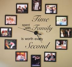 Make yourself a wonderful Photo Family Clock for a favourite space in your place. Check out all the inspiration now and be sure to view that awesome Family Photo Tree too!