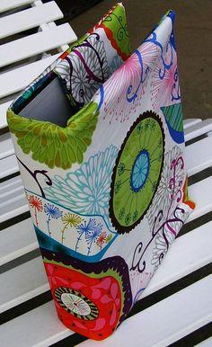 Dekorative Wendeordnerhüllen / ohne Inhalt von Meine bunte Flickenecke auf DaWanda.com