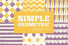 SIMPLE Geometric Patterns by adehoidar on @creativemarket