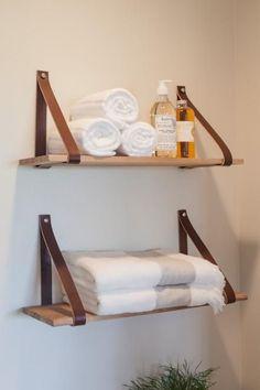 Best Apartment Decorating For Couples Bathroom Shelves Ideas Bathroom Wall Shelves, Wall Shelves Design, Bathroom Storage, Bathroom Mirrors, Master Bathroom, Open Bathroom, Bookshelf Design, Simple Bathroom, Bookshelves