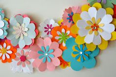"""SPRING IS NATURES WAY OF SAYING LET'S PARTY!    This wreath is inspired by the book """" Fêtes en papier"""" of Adeline K..."""